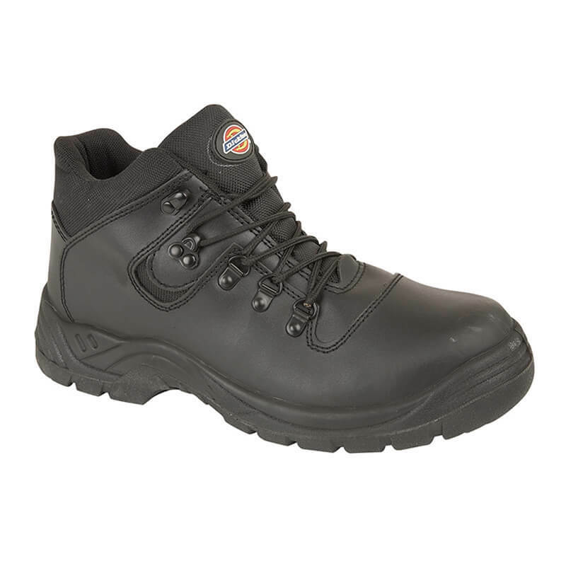 Mens Dickies Fury Original Safety Hiker Hike Leather shoes Boots Steel Toe Sizes