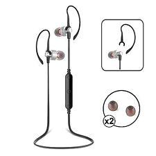 Wireless Bluetooth 4. Argento & Nero Cuffie Cuffie iPhone Samsung Android