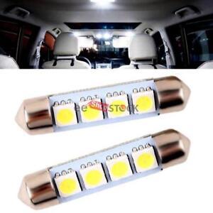 Ampoule-navette-led-auto-42-43-MM-lampe-bateau-porte-4-SMD-5050-Blanc-12v