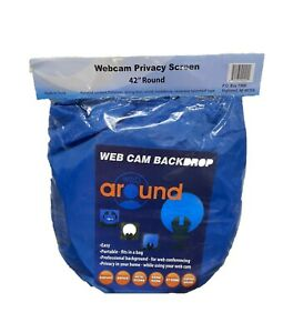 "Webaround Portable Webcam Background Privacy Screen 42"" Blue Good Condition"
