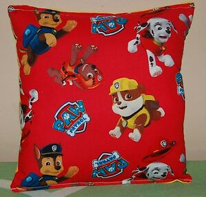 Paw-Patrol-Red-Pillow-HANDMADE-In-USA-Toddler-Travel-Daycare-Pillow