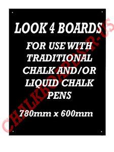 """Dynamique Grande Pub Chalkboard-blackboard - Lot De """"quatre"""" 780x600mm-ckboard- Qty """"four"""" 780x600mm Fr-fr Afficher Le Titre D'origine Retarder La SéNilité"""