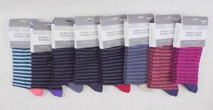 Bam-Bamboo-Clothing-Thin-Stripey-Luxury-Bamboo-Women-039-s-Socks-Size-9-11-W10