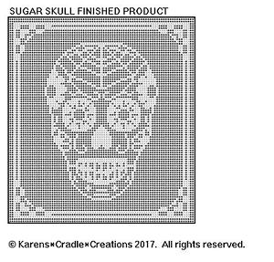 Sugar Skull Filet Crochet Pattern Ebay