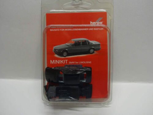 Herpa 012201-005 MINIKIT BMW 5er LIMOUSINE NERA KIT 1:87 NUOVO