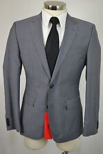 (38R) NEW HUGO BOSS Men's Gray Check MOD FIT Flat Front 2 Piece Suit (32x34)