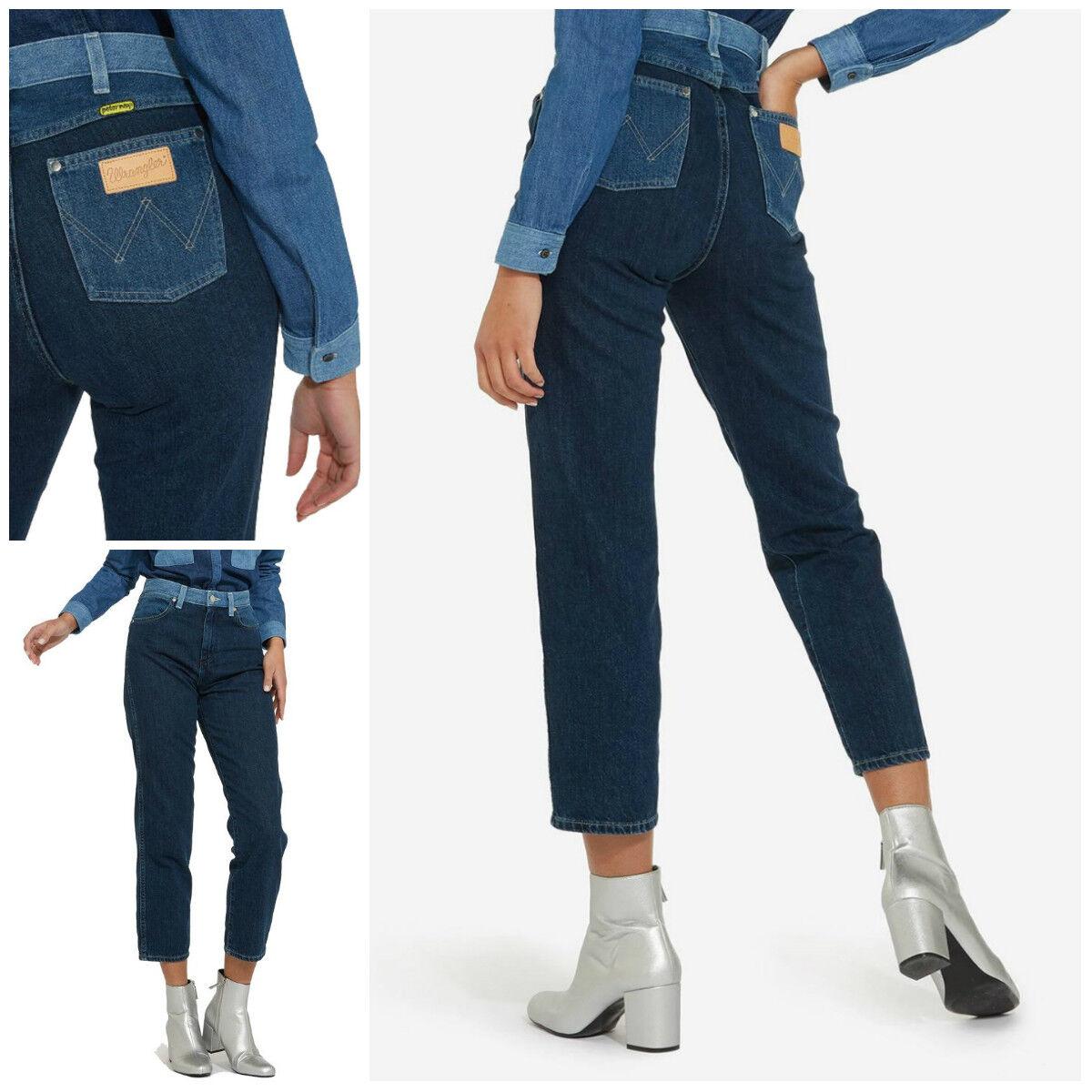 Neu Wrangler X Peter Max Retro Gerade Jeans Boyfriend Ausschnitt Mama