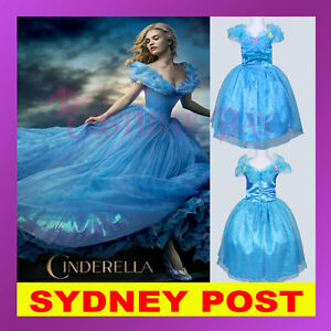 Image is loading Disney-Movie-Cinderella-Frozen-Elsa-Anna-Olaf-Girls-  sc 1 st  eBay & Disney Movie Cinderella Frozen Elsa Anna Olaf Girls Princess Costume ...