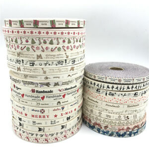 5yds-15mm-Cotton-Ribbon-Handmade-For-Wedding-Christmas-Decoration-Sewing-Fabric