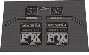 SUSPENSION DECAL SET FOX EVOLUTION SERIES 32 FLOAT FORK