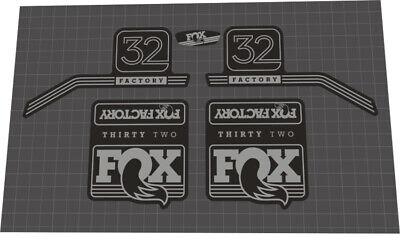 FOX EVOLUTION SERIES 32 FLOAT FORK SUSPENSION DECAL SET RED VERSION