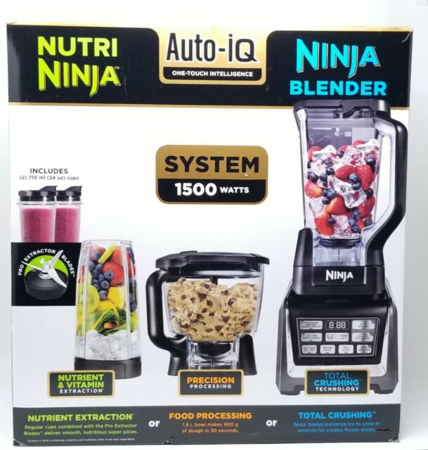 Nutri Ninja Auto-IQ Kitchen System 1500W Blender Food Processor Smoothie  Maker