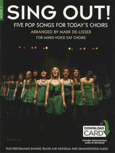Chantez Livre 1 Vocal Sheet Music Livre Audio/mark De-lisser Pop Singalong-afficher Le Titre D'origine