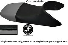 BLACK & GREY AUTOMOTIVE VINYL CUSTOM FITS HONDA TRANSALP XL 650 SEAT COVER ONLY