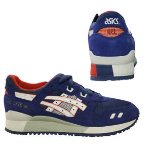 Details zu Asics Gel Lyte III Mens Trainers Running Shoes Low Top Blue H41NQ 4201 B23C