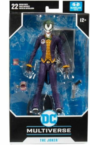 "McFarlane Toys DC Multi-Univers Arkham Asylum 7/"" Batman /& Joker Action Figure Lot"