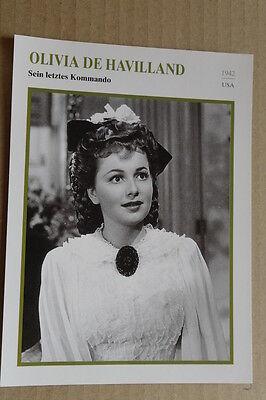(s35) Starfilmkarte - Olivia De Havilland - Sein Letztes Kommando