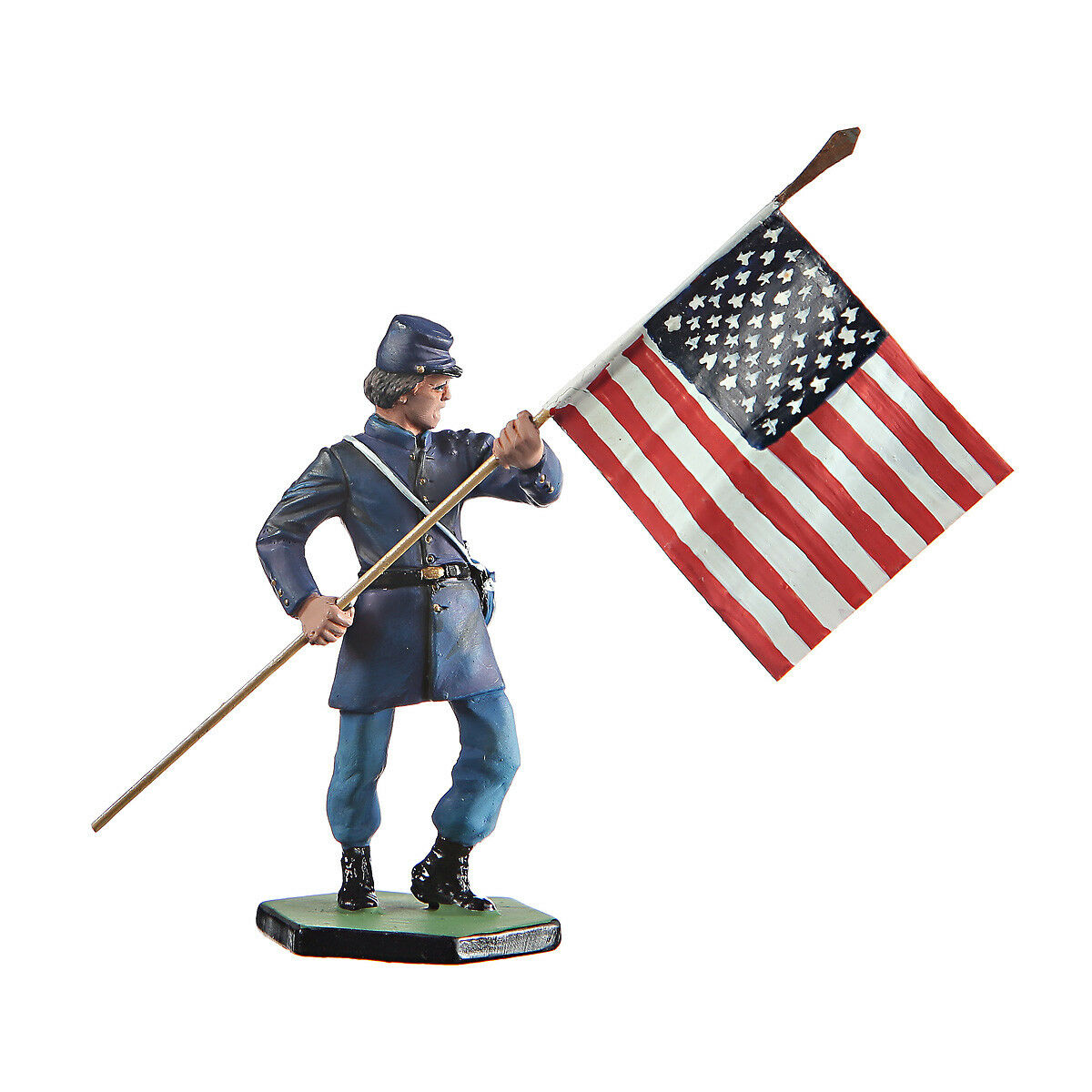 Tin Toy Soldier US Civil war Northerners Standard bearer figurine 54mm  CW22