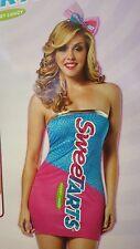 Sweetarts Sweet Tarts Candy Tube Dress Women Costume Rasta Imposta 3980