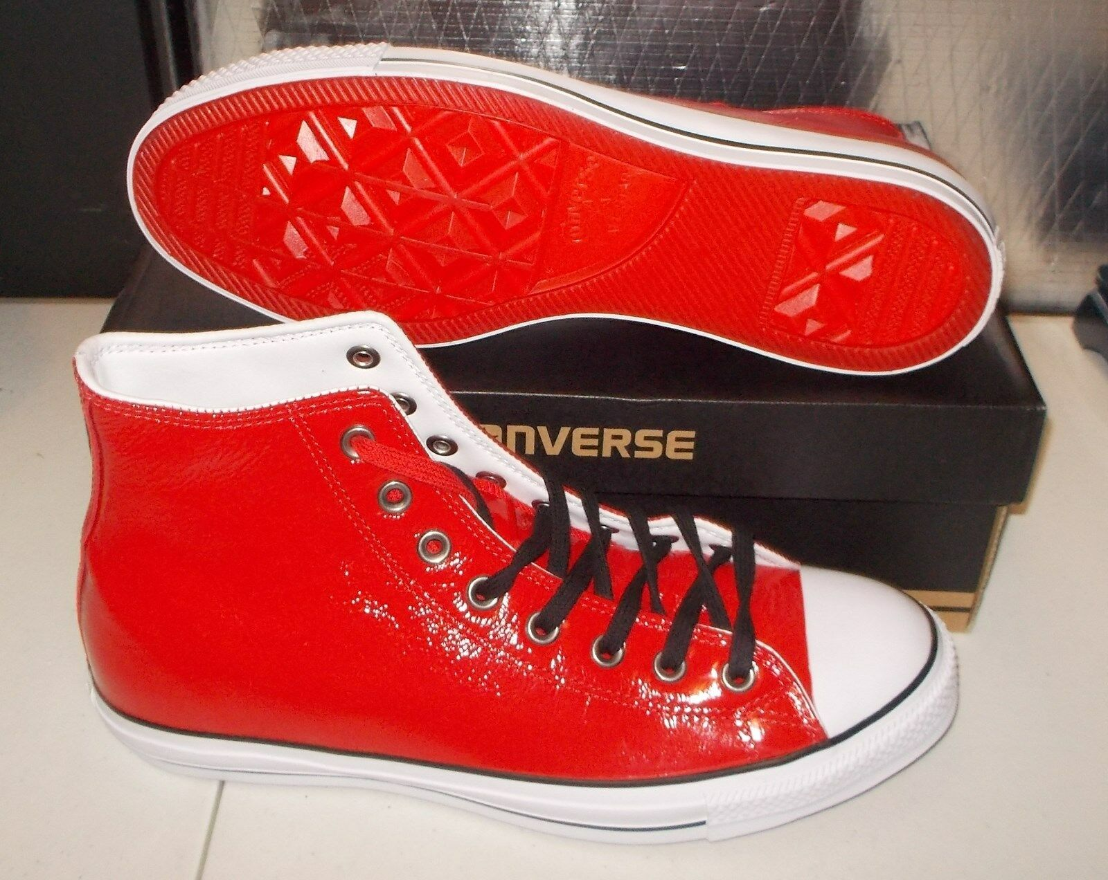 NEW CONVERSE CT CHUCK TAYLOR HI BARNEYS LIMITED EDITION Patent Leather MENS 130