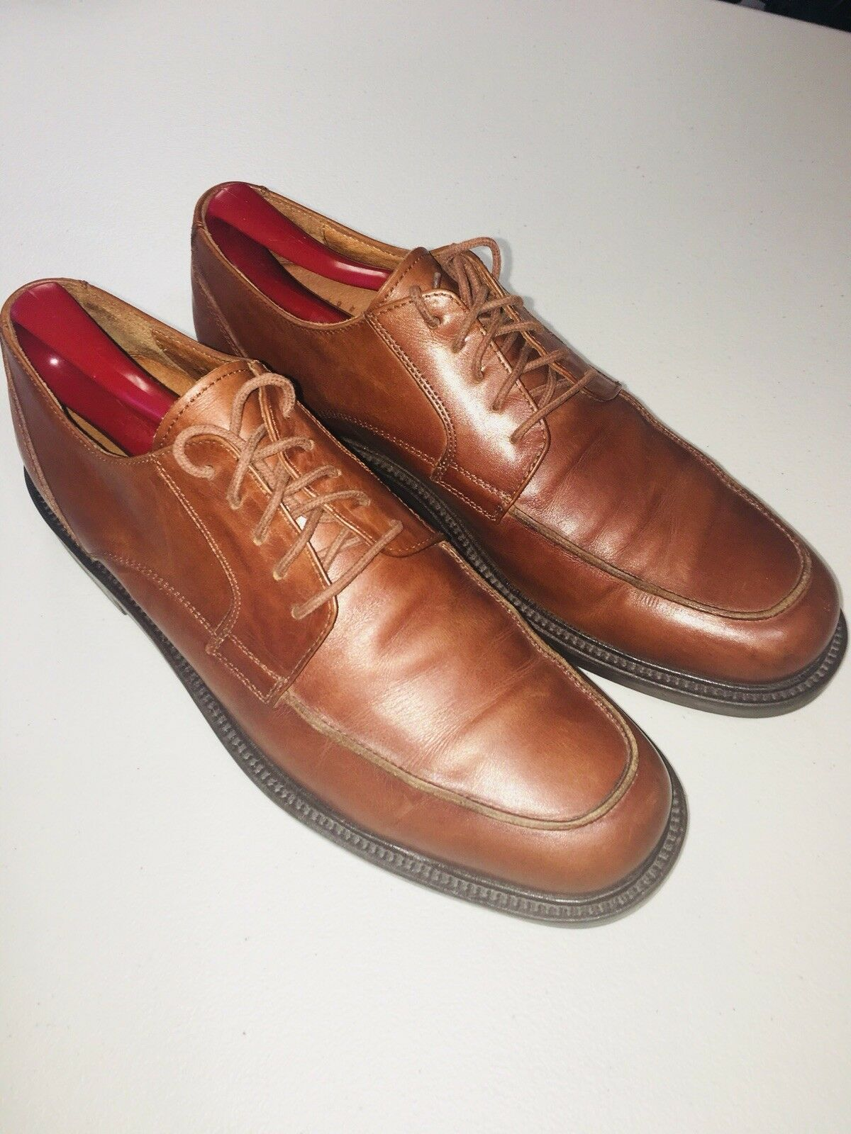 Johnston and Murphy 20-1510 Dress Brown Shoes Mens 8.5 Passport Brown Dress moc toe Italy ba5960