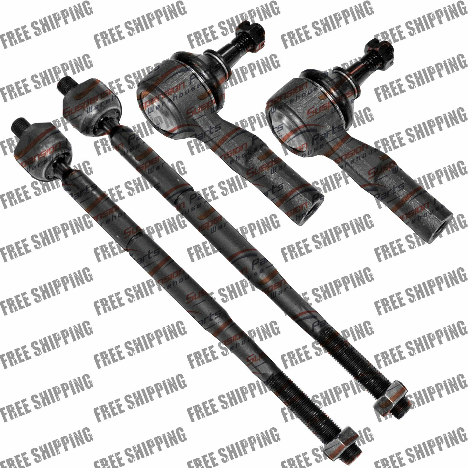 Steering Inner And Outer Tie Rods Set Fits Chrysler Town