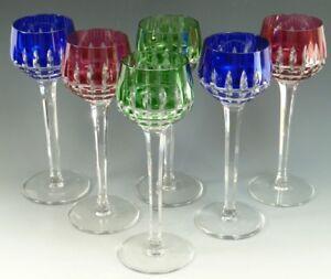 St Louis Crystal Manhattan Design Hock Wine Glass Glasses