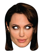 Angelina Jolie celebrità 2D TESSERA PARTITO Face Mask Fancy Dress HOLLYWOOD Attrice