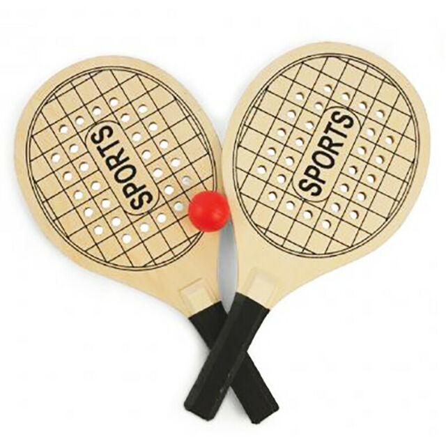 Rackets Mens Beach Tennis Sea Wood With Ball Rubber Play 836 for sale  online | eBay