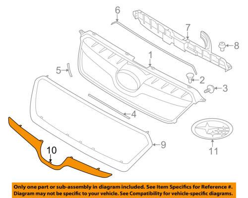 SUBARU OEM 13-15 XV Crosstrek Grille Grill-Molding Trim or Surround 91123FJ040