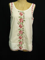 Odd Molly White Pink Embroidered Roses Blouse Top 1 Small $108