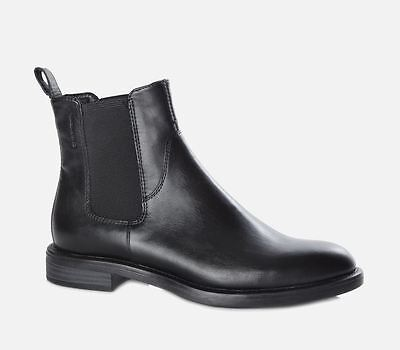 65459ddacde Details about Vagabond Amina Black Chelsea Flat Ankle Boots EU40 US9, EU41  US10