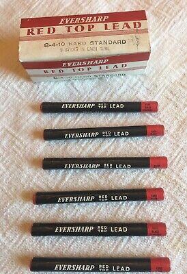 4 inch NOS Eversharp Red Top Medium Black Standard  Lead