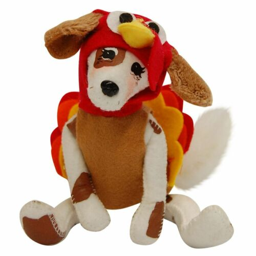 "Cute! TURDOGGEN 5"" Thanksgiving Poseable Decoration Table Decor DOG TURKEY DUCK"