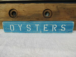 Methodical 21 Inch Wood Hand Painted Oysters Sign Nautical Maritime Seafood #s418 Maritime Plaques & Signs Maritime
