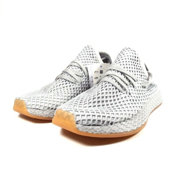 newest d7d4f 0e880 Adidas Originals Deerupt Mens Runner Light Gray Gum New CQ2628 Size 6