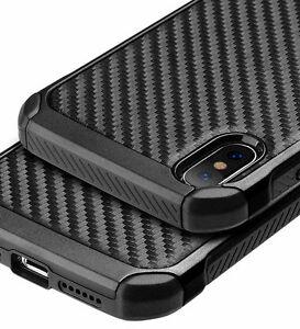 for iPhone X / XS - Black Carbon Fiber Hybrid Rugged Hard Armor Shockproof Case 168120454896