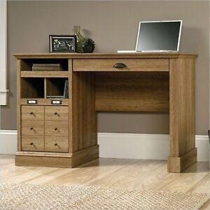 Sauder Barrister Lane Desk In Scribed Oak Transitional