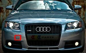 Audi-A3-8P-04-08-neuf-origine-avant-s-line-pare-chocs-tow-crochet-couvercle-bouchon-8P4807241A