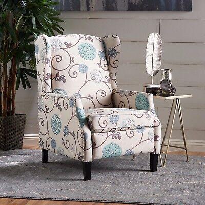 Peachy Westeros Traditional Wingback Fabric Recliner Chair Ebay Machost Co Dining Chair Design Ideas Machostcouk