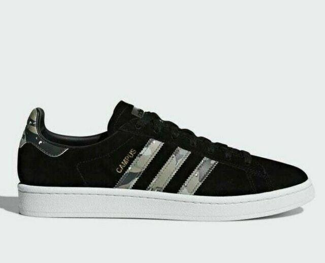 Black Adidas Originals Campus Men/'s Trainers Suede Leather Shoes B37821