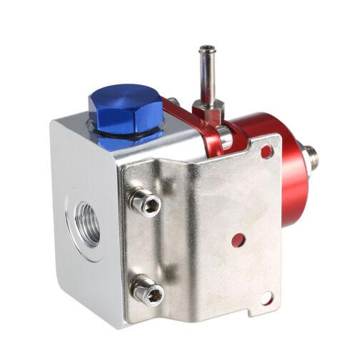 7MGTE MKIII Fuel Pressure Regulator Red with Hose Line Kit Fittings Gauge SET
