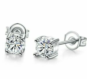 2ct-White-Topaz-Silver-Stud-Earrings-6mm-Made-with-Swarovski-Crystals-ITALY-MADE