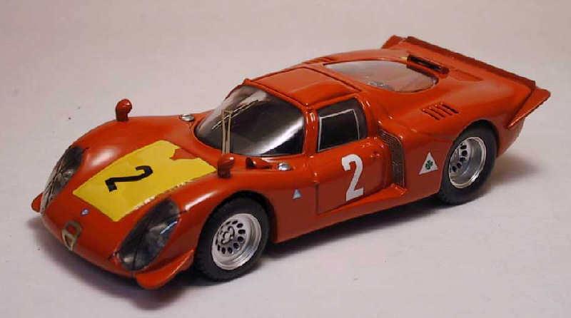 Alfa romeo 33,2   2 3 500 km imola 1968 m. casoni   s. dini 1 43 modell