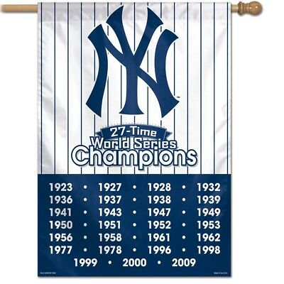 WinCraft New York Yankees 27-Time World Series Champions Double Sided Garden Flag