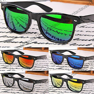 Sunglasses-Black-Glossy-Rectangular-Frame-Vintage-Retro-Mens-Womens-UV400