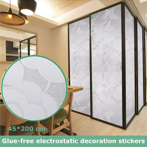 Cloud Pattern Static Cling Cover Frosted Window Glass Film Sticker Home   new
