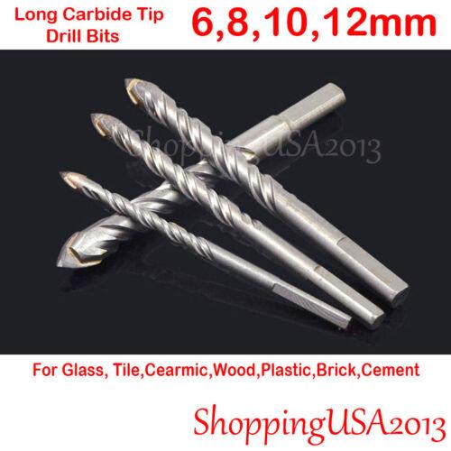 Drill Bit Set 6-12mm Hole Saw Carbide Tip Brick Tile glass ceramic Wood Glass