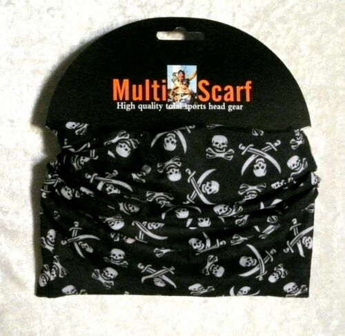 Multi Usage Crâne écharpe Tube Bandana Tête Masque Guêtre de Cou Snood coiffure NEUF