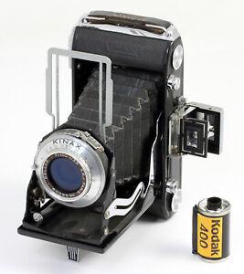 KINAX-III-Super-Vues-6-x-9-film-620-Objectif-bleute-Bellor-3-5-100-mm-Vers-1950